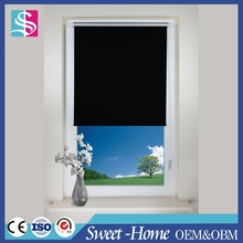 square and fancy office blackout fabric curtain roller blind with plastic ball chain