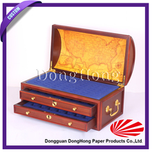 Luxury antique MDF box wooden coin packaging