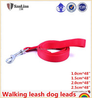 Plain nylon walking/running leash dog leads with handle