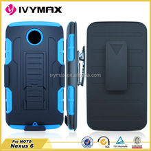 Robot combo case for motorola nexus 6 mobile accessories