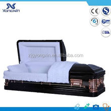 Cheapest american style metal casket for sale YXZ-1876