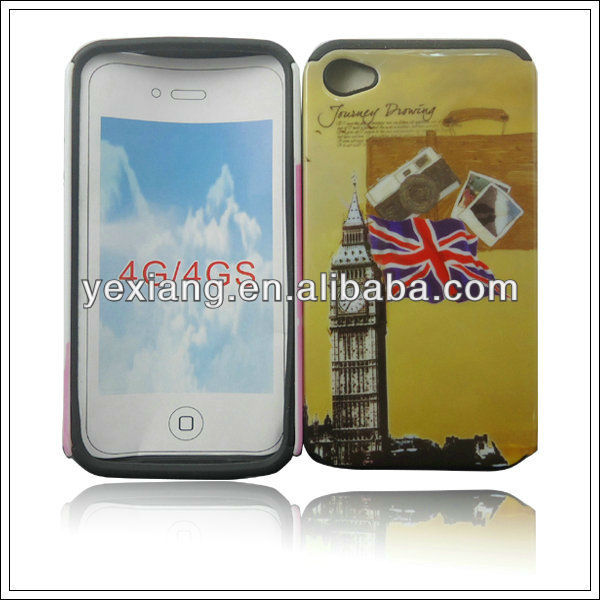 Custom printed hard plastic cover lighter cases for iphone 4