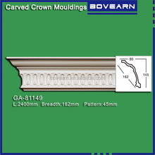 Modern Architectural PU foam Carved corner moulding