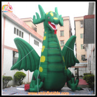 Factory inflatable dragon shape model,promotion dragon character,inflatable cartoon character for advertisement