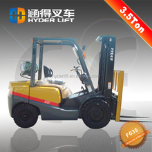 3.5t gasoline rear forklift truck lift small for sale