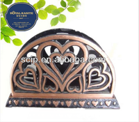 cooper plated cast iron napkin holder
