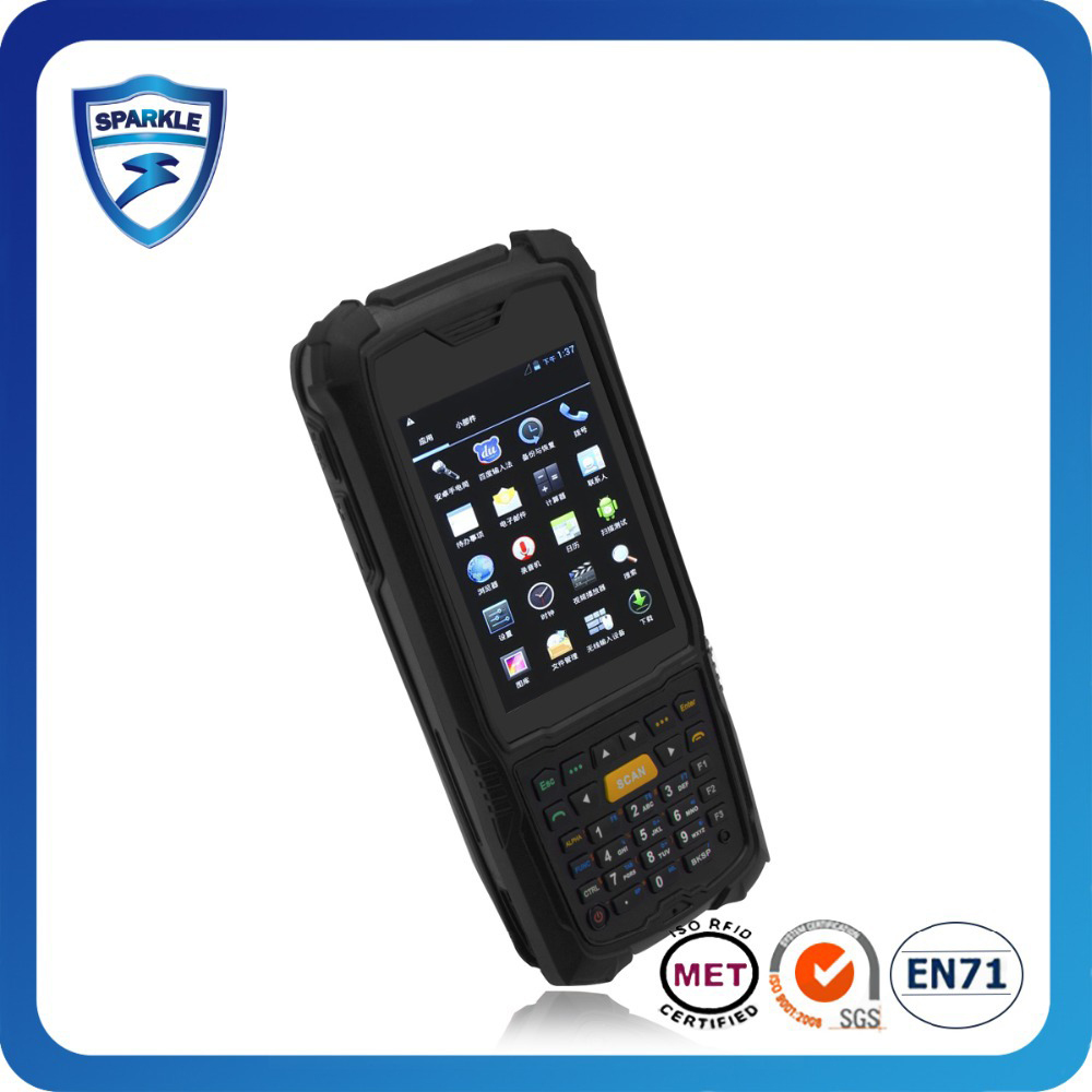 Rugged Ip67 wince/android 4.2 Mobile Smart Phone Uhf Rfid Pda With Wifi 3G Bluetooth rugged phone land rover