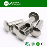 High quality A2 A4 stainless steel flat head semi tubular rivet