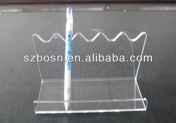 S shaped acrylic pen holder;Pen stand;Pen display;Pen container;