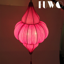 Cheap wholesale indoor decoration purple fabric led hanging antique pendant lights vintage lamp from zhongshan light