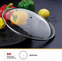 Korea cookware pot lid tempered glass lid