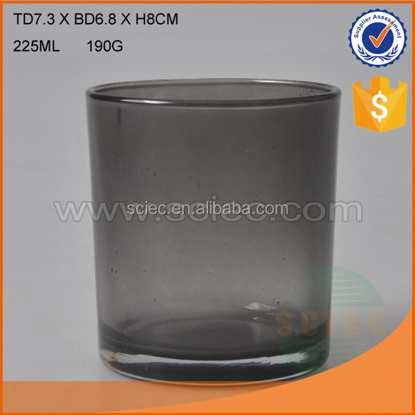 Customized glass beer mug with nice design and color