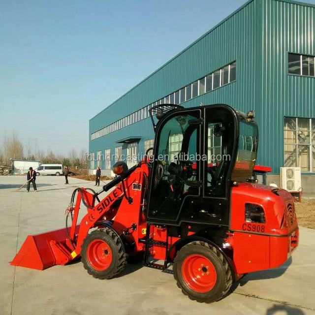 4X4 eaton motor hydraulic driving axles 800kg mini loader with snow wing bucket