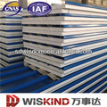 heat insulation color steel roofing & wall PU/EPS sandwich panel