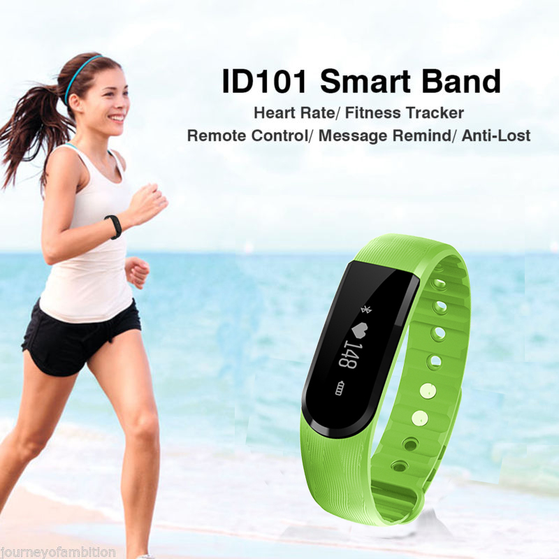 Heart rate monitor smart watch Fit bit health bracelet vibrating alarm wristband