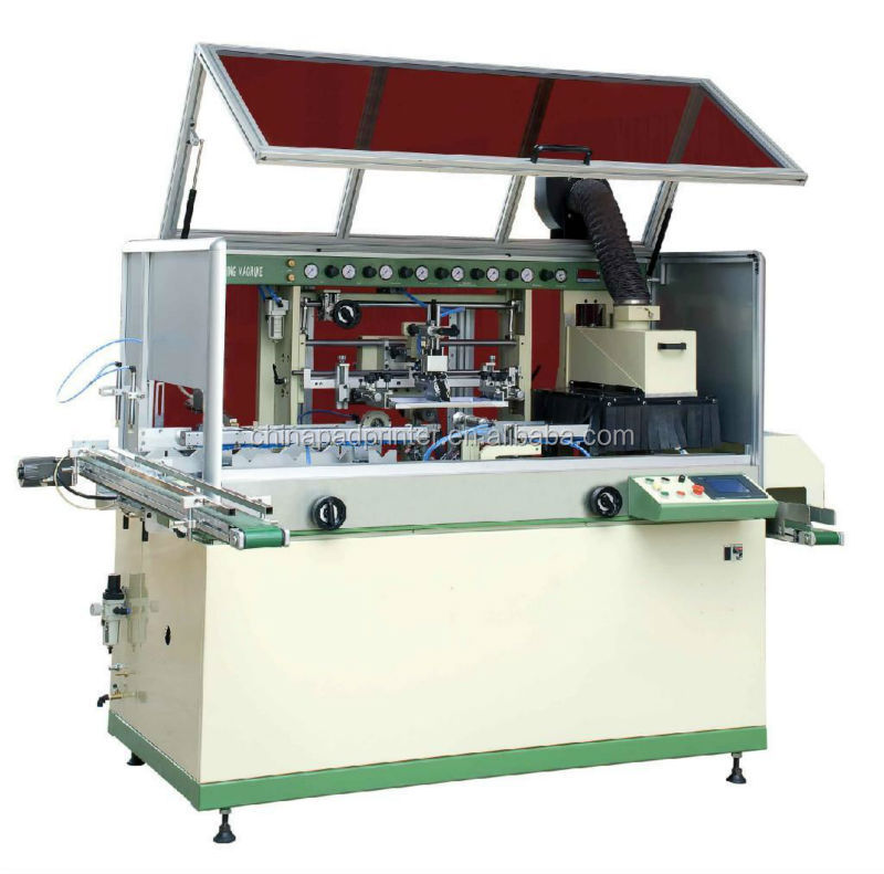 Full Automatic One Color Cylinder Screen Printer/full Auto Screen Printer LCB-120UV-1