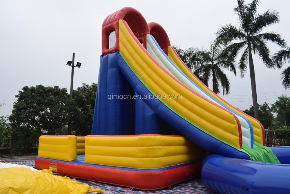 Giant inflatable climb water slide with pool , giant inflatable water slide for adult , Inflatable water slides for sale