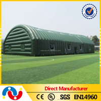 PVC tarpaulin inflatable 20m Wide Sports Building Tent For Tennis