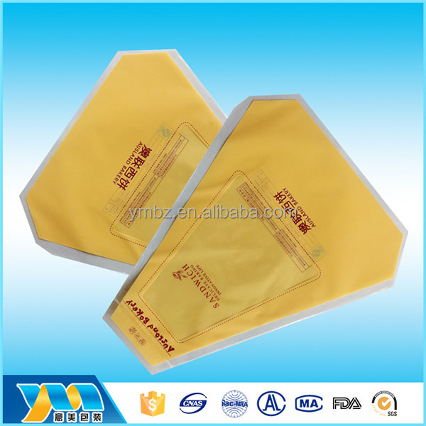Unique shape cheap durable printed plastic bread packaging bag