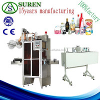Suren provide efficient sleeve label machine with shrink tunnel for sale