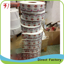 Promotional Custom Products Packaging Waterproof Permanent Adhesive Label Sticker