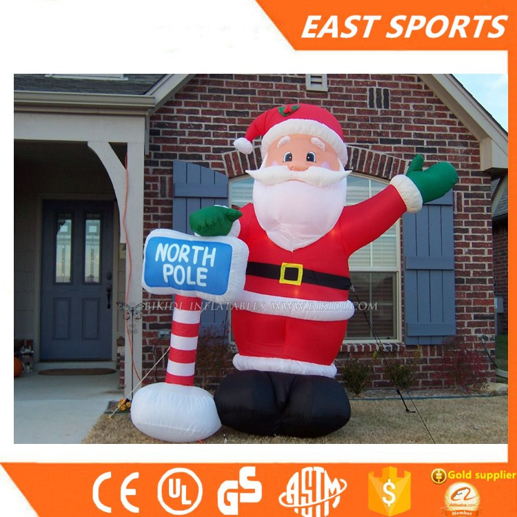 wholesale Inflatable christmas figures , Inflatable santa claus with high quality for sale