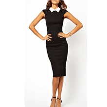 OEM Wholesale Womens Elegant Vintage Office Wear To Work Party Bodycon Pencil Career Dresses