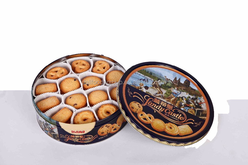 Daliyuan 488g Danish Butter Cookies with Tin Box Packing for Snacks