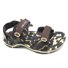 2017 new fashion design brown sport pu men sandals for sale