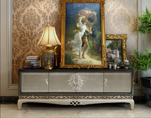 Luxury solid wood MDF tv stand furiture cabinet