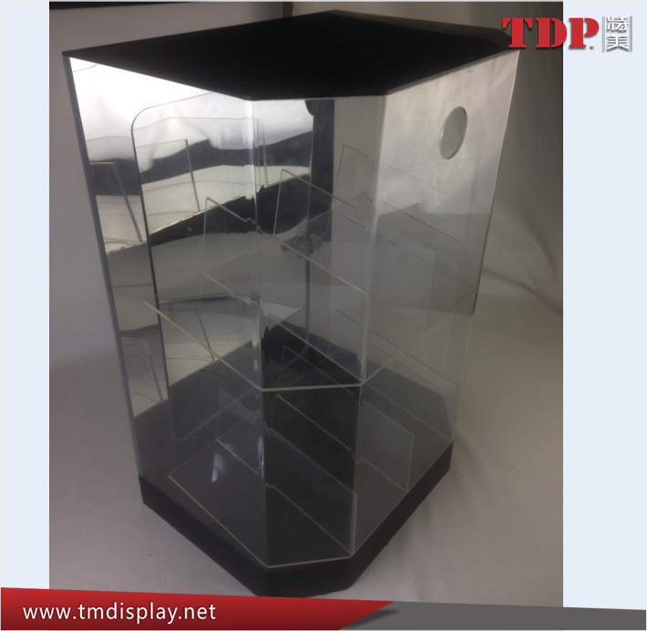 Factory custom clear lucite pmma acrylic cosmetic display stand acrylic display cases wholesale acrylic led display cabinet
