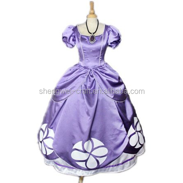 Factory hot sale adult princess sofia costume