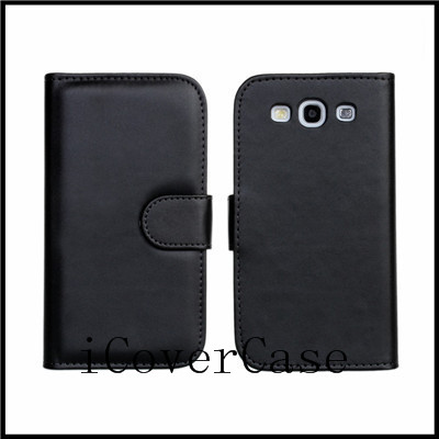 For samsung galaxy s3 i9300 phone Pu leather wallet stand flip case cover with 4 colors