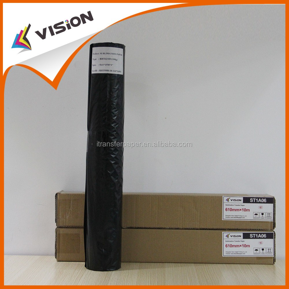 High transfer rate sublimation transfer type printing paper in roll form for Mimaki TS300P-1800
