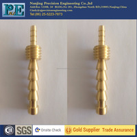 china OEM brass cnc machining parts, female hose barb fitting,cnc turned connectors