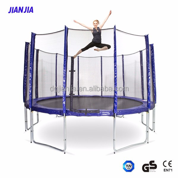 Combo Bounce Jump Safety Enclosure Net Trampoline with Spring Pad