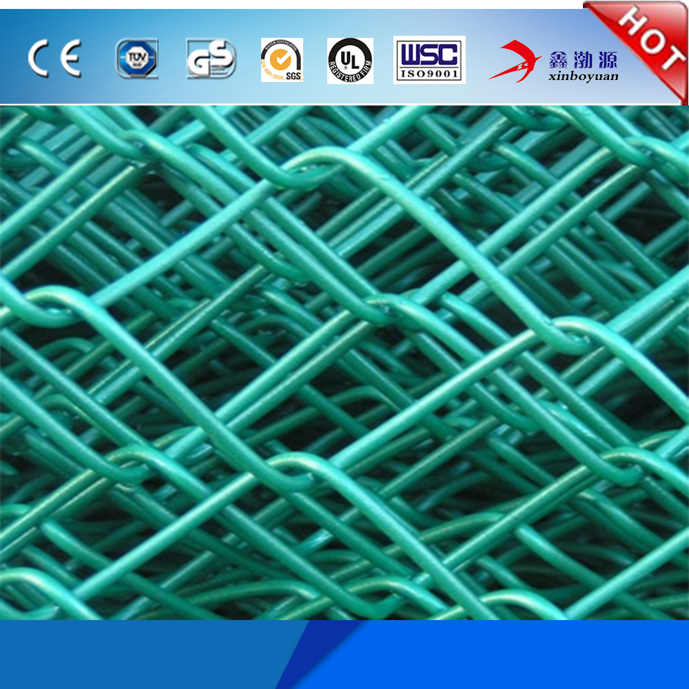 factory competitive price high quality pvc coated highway fence chain link fence/vinyl covered chain link fence for sale