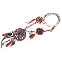 Unique products from china Dream Catcher Boho Wire Wrapped Dreamcatcher Necklace