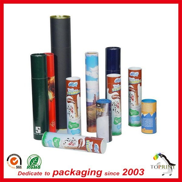poster paper tube for mailing toothpaste tube packaging with custom logo printing