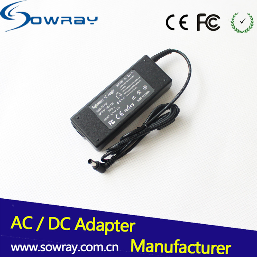 OEM High Quality 90w notebook charger 19.5v 4.7a Laptop Charger for Sony Battery Charger 6.4x4.4 Pin