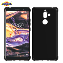 Case For Nokia 7 plus Rugged Silicone Soft Gel Case Cover For Nokia 7 plus
