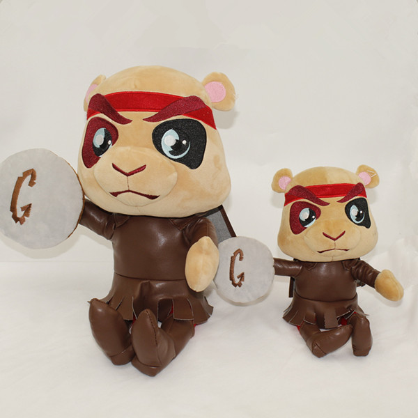 China factory best make jointed soft plush brave warrior toy for sale