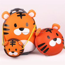 Wholesale EVA Cartoon Tiger Kids' Trolley Travel Luggage Bag