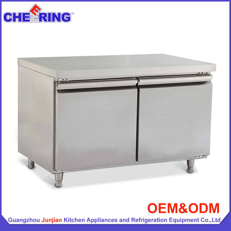 Commercial Double Doors Work Table Under Counter chiller