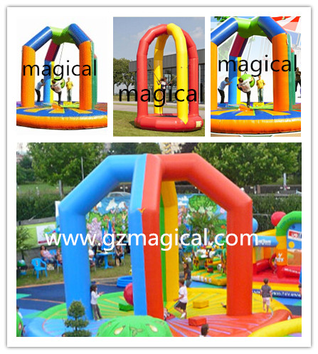 jumping inflatable interactive wrecking ball/wrecking ball sport game