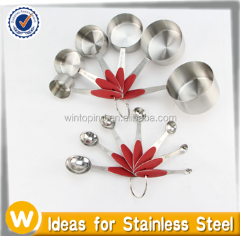 New size 13 pcs Stainless Steel Measuring Cup and Spoon Set