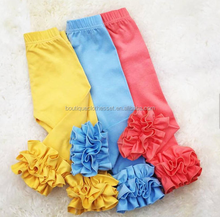 soild color baby fall pants icing ruffled children leggings baby girl soft cotton pants