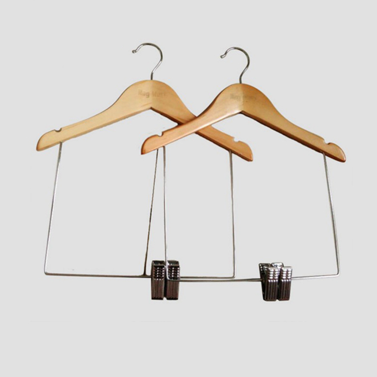 cheap solid wood hangers multi usage plastic black pants hanger with crossbar hanger with metal hooks available