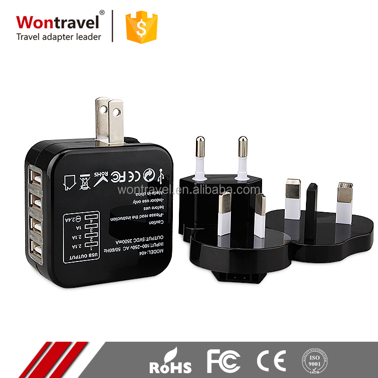 Fast Charging 5 v 6A 3500mA Universal Travel Power Adaptor 4 Port USB to AC Wall Charger For Laptop