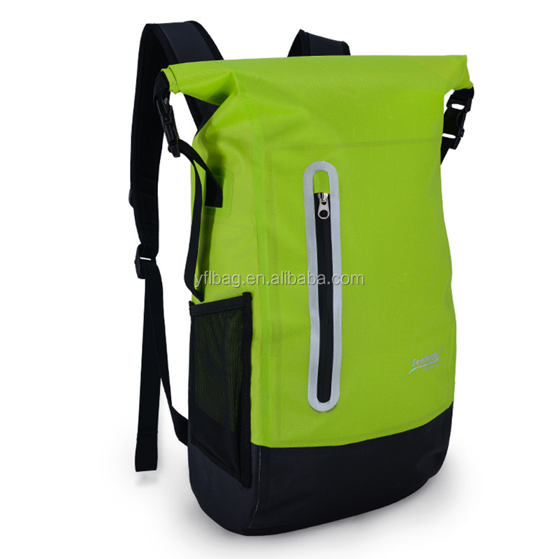 Waterproof backpack Use and Tarpaulin Material Reusable Customized Dry Backpack